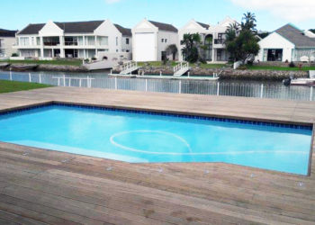Sparrow Pools completed pool - Kowie Marina