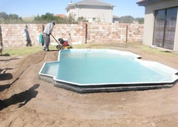 Sparrow Pools installation - Compacting